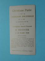 Communion Solennelle De Christiane Parée à SOIGNIES Le 10 Mars 1940 ( Voir / Zie Foto's ) ! - Communion