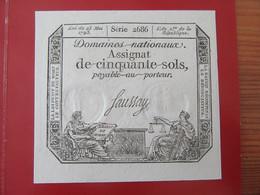 France - Assignat De Cinquante Sols - 23 Mai 1793 - Série 2686 - NEUF - Assignats & Mandats Territoriaux
