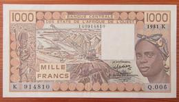 Etats De L'Afrique De L'Ouest - Billet 1000 Francs 1981 - West African States