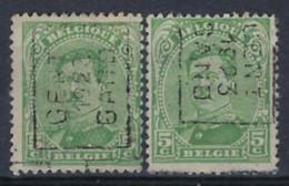 Koning Albert I Nr. 137 Type II Voorafstempeling Nr. 3063 A + B  GENT 1923 GAND ; Staat Zie Scan ! - Roller Precancels 1920-29
