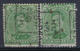 Koning Albert I Nr. 137 Type II Voorafstempeling Nr. 2694  A + B  HUY  1921  HOEI ; Staat Zie Scan ! - Roller Precancels 1920-29