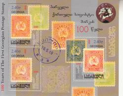 2019 Georgia Stamps On Stamps Philately SILVER Souvenir Sheet MNH - Georgia