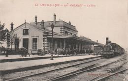 CPA (81) MAZAMET N° 956  La Gare (Intérieur) Train Locomotive à Vapeur Chemin De Fer  2 Scans - Mazamet