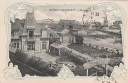 CPA Gaufrée (14) COURSEULLES Sur MER  N° 1 L' Eldorado Embossed Art Nouveau + Cachet Hôpital Complémentaire  2 Scans - Courseulles-sur-Mer