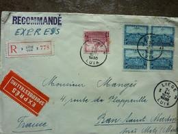 1930  Lettre  5 Timbres   Cachet  LIEGE LUIK    PERFECT - Storia Postale