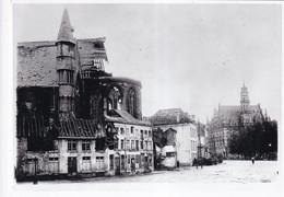OUDENAARDE FOTO VAN OUDE CLICHE 1914 - 1918  - 18 X 13 CM - Oudenaarde