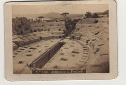 Cdv Italie Italia  Antiteatro Di Pozzoli Par Rive à Naples Napoli - Old (before 1900)
