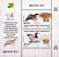 Northern Cyprus - 2021 - Europa CEPT - Endangered National Wildlife - Common Pochard - Mint Souvenir Sheet - Unused Stamps