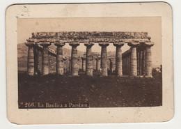 Cdv Italie Italia  Par Rive à Naples Napoli Basilica A Paestum - Old (before 1900)