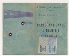 Carte Nationale D'Identité émise En ALGERIE (Préfecture D'Alger) - Fiscaux Type Daussy 15F Et 80F Impôt Du Timbre - Other