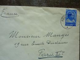 1932  Lettre  1 Timbre  Cachet  AUDERGHEM - Covers & Documents