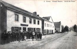 Gives - Grand'Route - Arrêt Du Tram (Top Animation Edit Laflotte N° 2 Café) - Huy