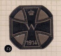 "WW1 ERA CINDERELLA - VIGNETTE- 1914  GERMANY / AUSTRIA WWI ""Iron Cross With Crown"" Poster Stamp Label - Erinnophilie"