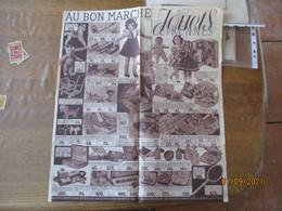 AU BON MARCHE JOUETS ETRENNES DEPLIANT PUBLICITAIRE - Publicités