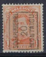 Albert I Nr. 135 Type II Voorafgestempeld Nr. 2516 A   SCHERPENHEUVEL 20 MONTAIGU  ; Staat Zie Scan ! - Roller Precancels 1910-19
