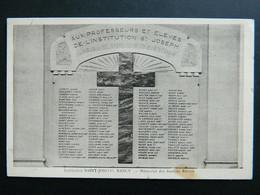 INSTITUTION SAINT JOSEPH                      NANCY                     MEMORIAL DES ANCIENS ELEVES - Nancy