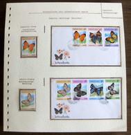 54548 Laos Fdc 1985 Papillons Papillon Schmetterlinge Butterfly Butterflies Neufs ** MNH - Butterflies