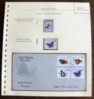 54577 Ascension Islands Malawi Fdc 1987 Papillons Papillon Schmetterlinge Butterfly Butterflies Neufs ** MNH - Butterflies