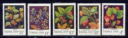 Russie (Russia Urss USSR) - 123 - N°4887 / 4891 Fleurs (fleur Flower Flowers) BAIES SAUVAGES - Ohne Zuordnung