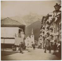 Chamonix-Mont-Blanc (Haute-Savoie). Église Saint-Michel. Tirage Citrate Circa 1900. - Places