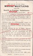Oorlog Guerre Mathieu Wuytjens Neerpelt Para Commando Gesneuveld In Bevolen Dienst Te ST Gravenswezel 1945 - Devotieprenten