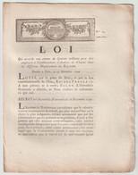 1790, Loi Qui Accorde 15 Millions Pour être Employée à L'établissementd'Ateliers De Charité - Décrets & Lois