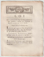 1790, Loi Qui Ordonne Que Les Juges De Paix Commenceront Leurs Fonctions... - Décrets & Lois