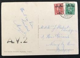 Grande Bretagne Adm. Militaire Tripolitaine 1950 De Tripoli Vers Nimy-lez-Mons Très Rare (1052) - Other
