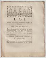 1791, Loi Relative à Différentes Liquidation D'Offices De Judicature - Décrets & Lois