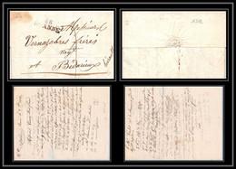 1742 Loire 42 Marque Postale Roanne 32x10 Indice 5 Pour Bédarieux Hérault 8/12/1824 LAC Lettre Cover France - 1801-1848: Précurseurs XIX