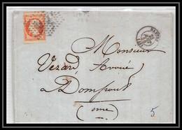 2155 Loire-Atlantique Napoléon N°16 Pc 2221 Nantes Pour Domfront (Orne) 23/81856 Convoyeur LAC Lettre Cover France - 1849-1876: Klassieke Periode