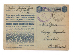 "13736"" 1942-MEDAGLIE D'ORO-APPUNTATO R. GUARDIA DI FINANZA MEATTINI FRANCESCO ""-CART. POST. SPEDITA 1943 - Stamped Stationery"