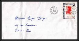 73085 Porte Timbre état Souverain De L'ile Barbe Paris Lenoir 1985 Liberté Lettre Cover France - 1982-90 Liberté (Gandon)