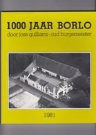 BORLO-GINGELOM-BOEK-1981-1000 JAAR BORLO DOOR JOSE GUILLIAMS+-200 BLZ IN NIEUWSTAAT-AFMETINGEN+-21 OP 24 CM-ZIE 8 SCANS! - Gingelom