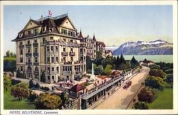CPA Lausanne Kanton Waadt, Hotel Belvedere - VD Vaud