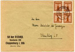 Dienstmarke Auf Brief Der SA Der NSDAP, Standarte 229 In Cloppenburg. - Briefe U. Dokumente