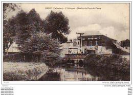 """Cpa   (   Dep 14  )   à   ORBEC  """" L' Orbiquet Moulin Du Pont De Pierre - Orbec"""
