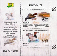 Northern Cyprus, Europa 2021, Endangered National Wildlife, MNH S/S - Unused Stamps
