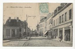94 MAISONS ALFORT N°6 Grande Rue Grande Cheminée Attelage Cheval Magasins Librairie Ameublement Café Bière Du Lion - Maisons Alfort
