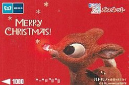 JAPAN - Merry Christmas, SF Prepaid Card Y1000, Used - Natale