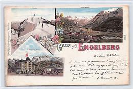 ENGELBERG (OW) Litho - Terminus Hôtel - Totalansicht - Verlag Hess - OW Obwalden