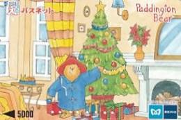 JAPAN - Christmas, Paddington Bear, SF Prepaid Card Y5000, Used - Natale