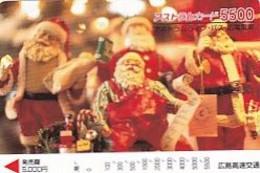 JAPAN - Santa Claus, Prepaid Card Y5500, Used - Natale