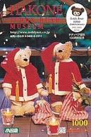 JAPAN - Christmas, Hakone Teddy Bear Museum, Prepaid Card Y1000, Used - Natale