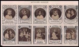 WW1 ERA Germany/Austria Cinderella VIGNETTE Reklamemarke MONARCHY  SHEET OF 10  WITH INFANT MONARCHY VERY RARE! - Erinnophilie