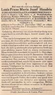 Doodsprentje Louis Hendrix Harmonie Boogschutterij Concordic ° Peer 1867-1934 Eere-Hoofdstaatslandbouwkundige - Images Religieuses