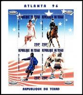 Soccer Football Tchad Chad KB 1425/8 1996 Olympics Atlanta MNH ** - Nuovi