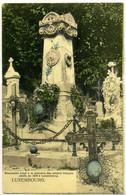 Cpa  Luxembourg Monument Aux Morts Des Français De 1870,  Beau Plan - Andere