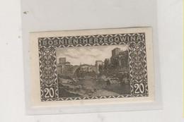 BOSNIA AND HERZEGOVINA AUSTRIA 1906 20 H  Imperforated Hinged - Bosnie-Herzegovine