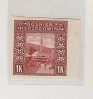 BOSNIA AND HERZEGOVINA AUSTRIA 1906 1 K  Imperforated Hinged - Bosnie-Herzegovine